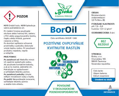 BorOil 1L etiketa