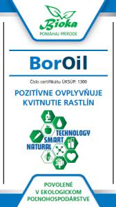 Bioka s.r.o. BorOil listové hnojivo, insekticíd, zmáčadlo