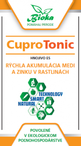 Bioka s.r.o. CuproTonic listové hnojivo