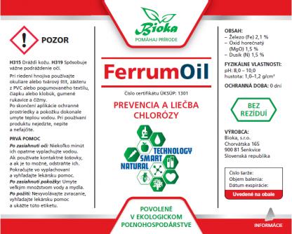 FerrumOil 1L etiketa