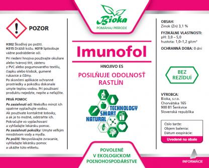 Imunofol 1L etiketa