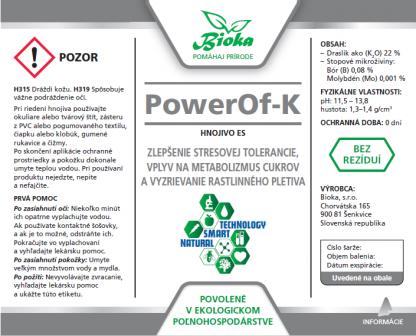PowerOf-K 1L etiketa