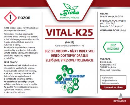 Vital-K25 1L etiketa