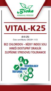 Bioka s.r.o. VITAL-K25 listové hnojivo