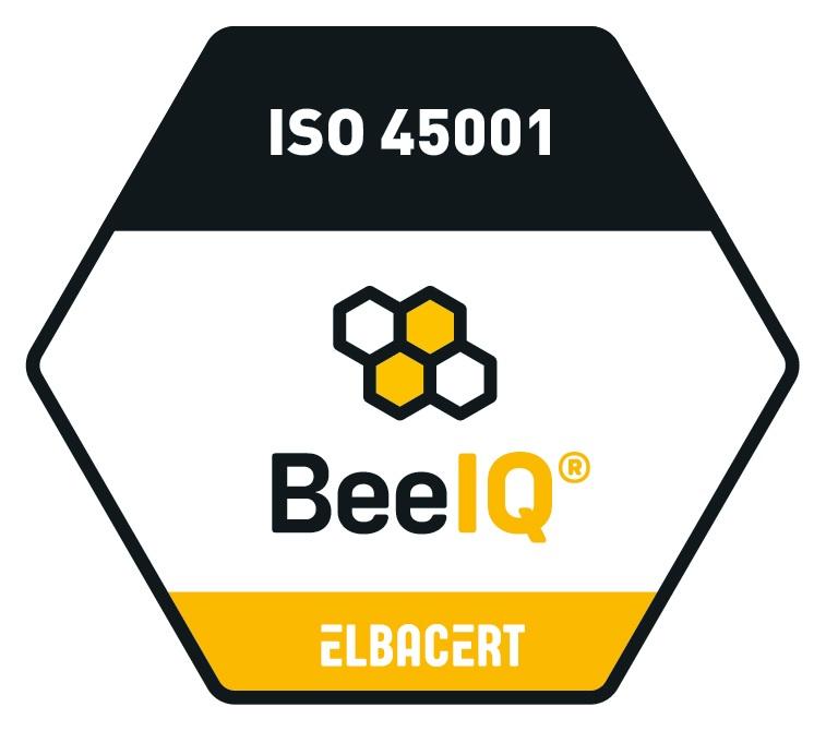 Certifikačná značka pre ISO 45001:2015 - spol. Elbacert